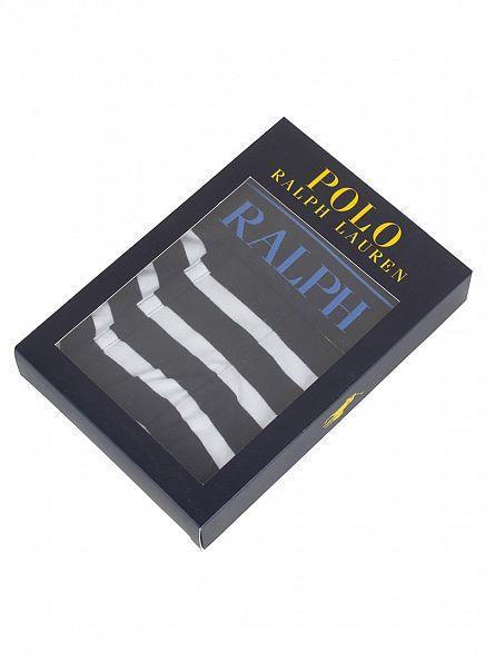 Polo Ralph Lauren Polo Black/White Stripe Classic Stretch Striped Logo Trunks