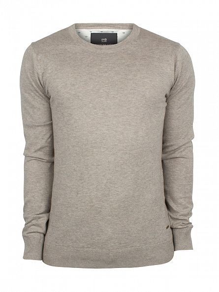Scotch & Soda Sand Melange Crew Neck Knit