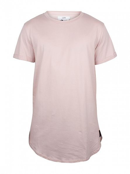 Sixth June Beige Curved Hem Logo T-Shirt