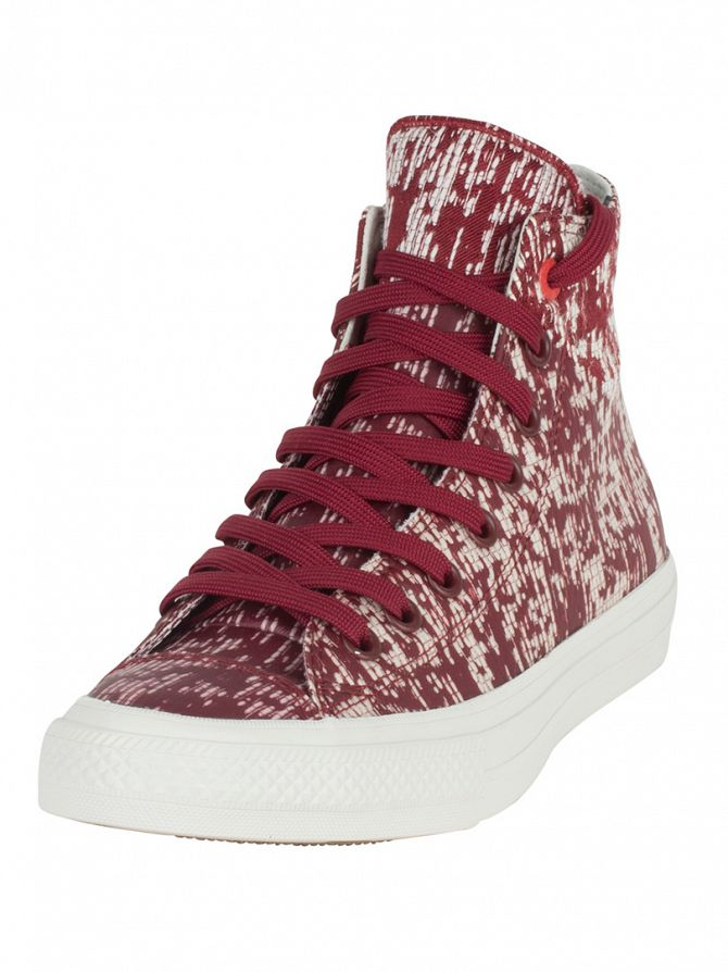 Converse Red Block/Buff/Black CTAS II Hi Trainers