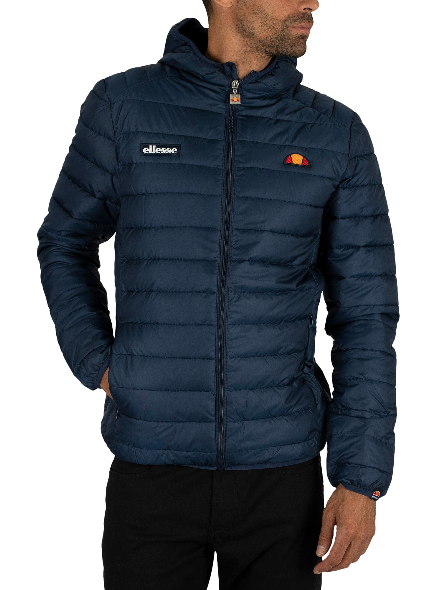 ellesse herren lombardei gepolsterte jacke blau ebay. Black Bedroom Furniture Sets. Home Design Ideas