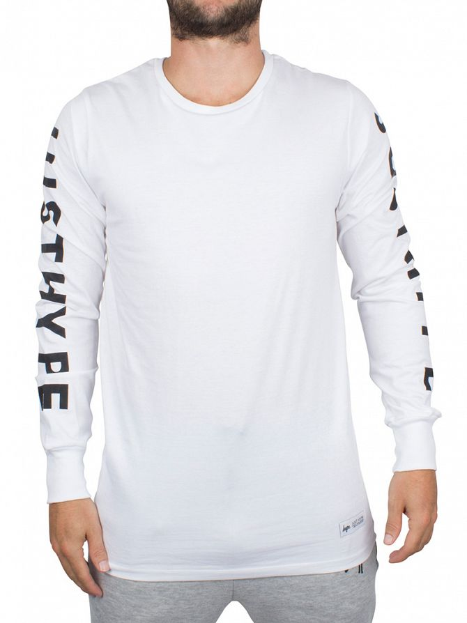 Hype White Longsleeved Just Hype T-Shirt