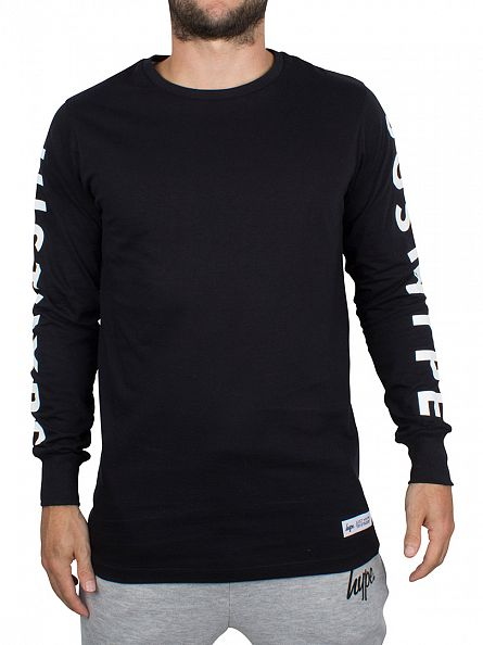 Hype Black Longsleeved Just Hype T-Shirt