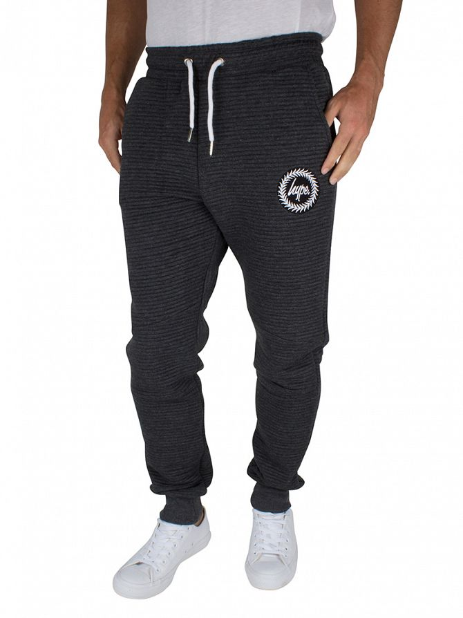 Hype Charcoal Ribbed Logo Joggers