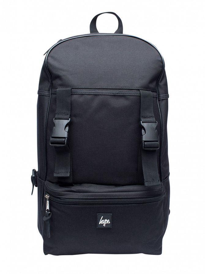 Hype Black Traveller Logo Backpack