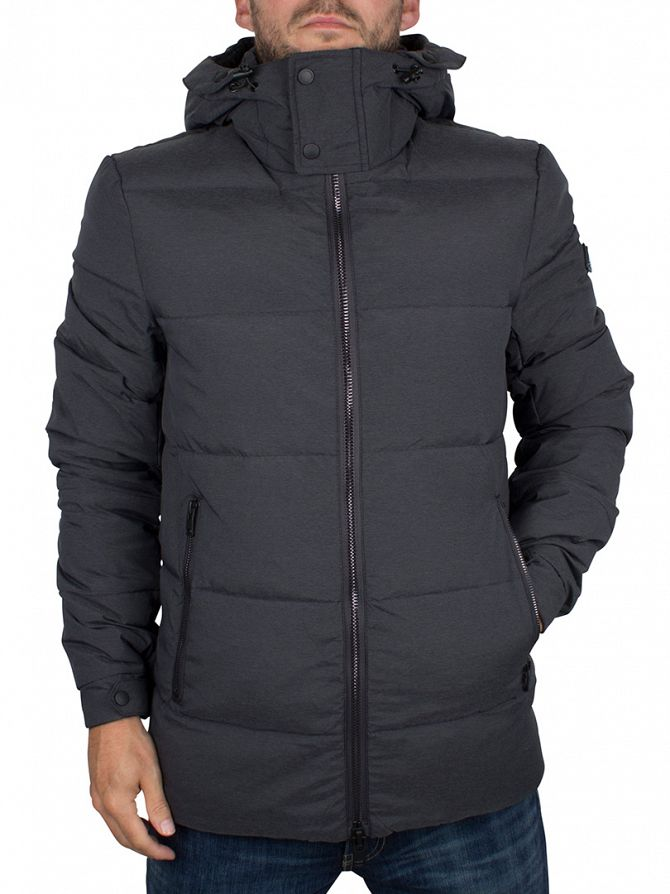 J Lindeberg Rhino Grey Melange Barry 67 Rich Nylon Jacket