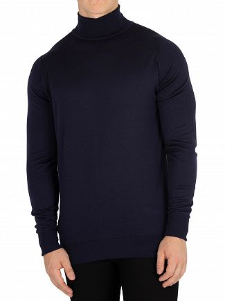 John Smedley Midnight Richards Roll Neck Knit