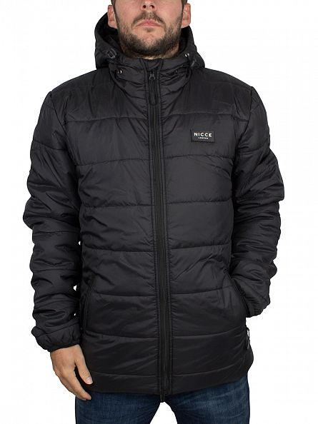 Nicce London Black Trail Logo Jacket