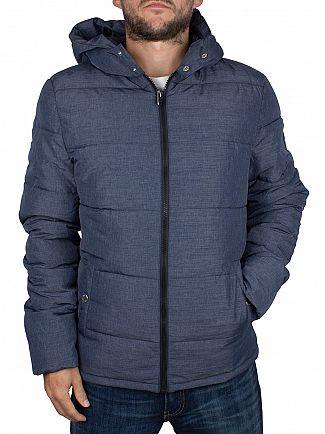 Original Penguin Medieval Blue Insulated Melange Puffer Jacket