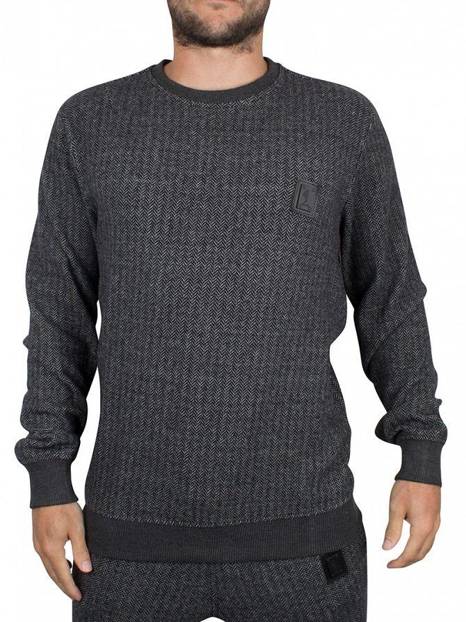 Religion Black/Grey Hazard Herringbone Logo Sweatshirt