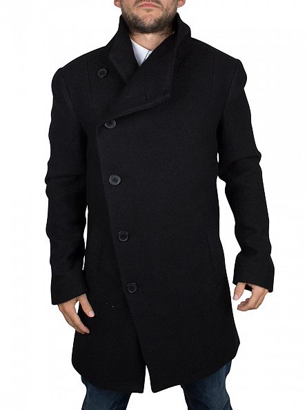 Religion Black Boucle Noirex Long Coat