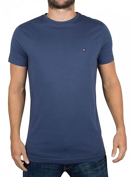Tommy Hilfiger Dark Denim Stretch Logo T-Shirt