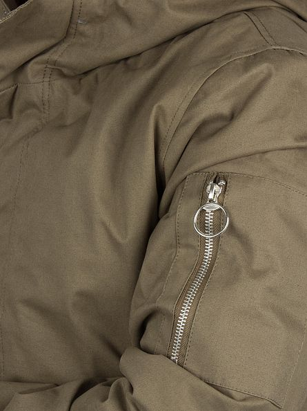Bellfield Khaki Sherpa Lined Parka Jacket
