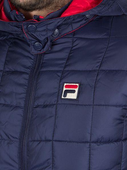 Fila Vintage Peacoat Passo Logo Puffa Jacket