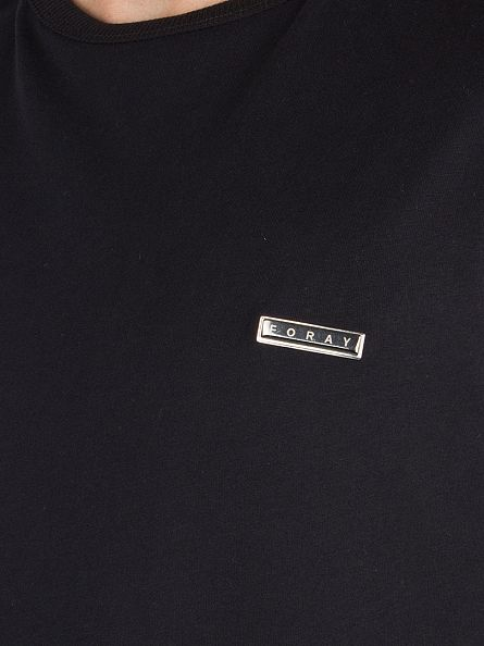 Foray Black Longsleeved Legacy Metal Logo T-Shirt