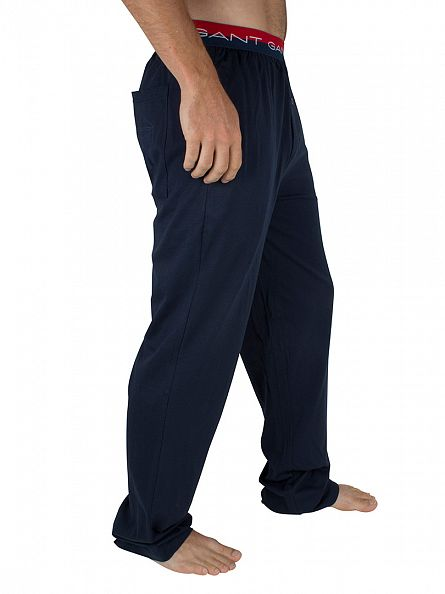 Gant Navy Jersey Seasonal Logo Pyjama Bottoms