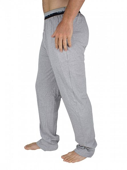Gant Light Grey Melange Jersey Seasonal Logo Pyjama Bottoms