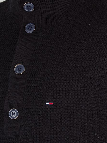Hilfiger Denim Caviar Logo Button Knit