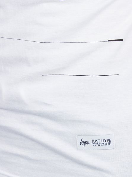 Hype White Script Glitch Graphic T-Shirt
