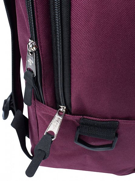 Hype Burgundy Traveller Logo Backpack