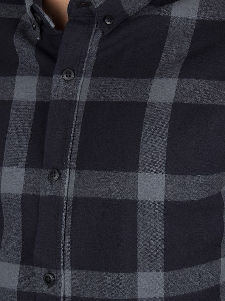 Only & Sons Dark Navy Slim Fit Tim Checked Shirt