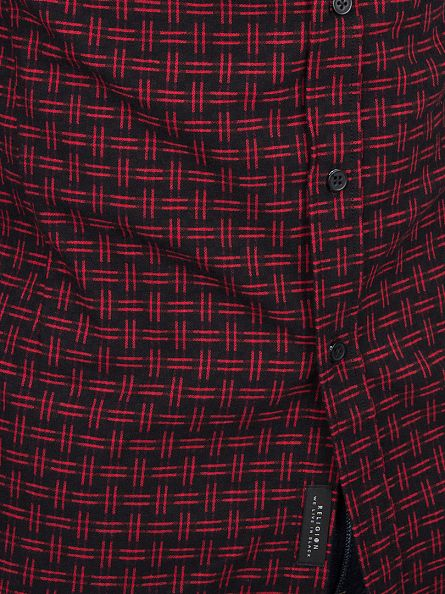 Religion Red/Black Yard Cross Pattern Shirt