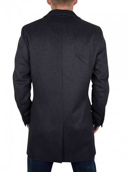 Scotch & Soda Graphite Melange Long Wool Coat