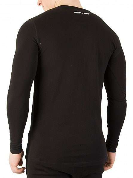 11 Degrees Black Longsleeved Core Logo T-Shirt