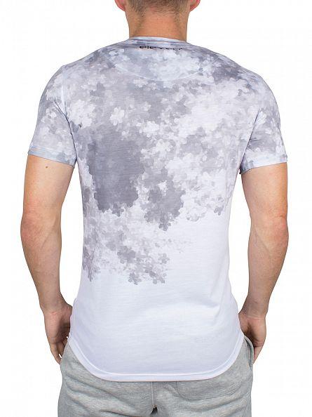 11 Degrees Grey/White Sub Cloud Fade T-Shirt