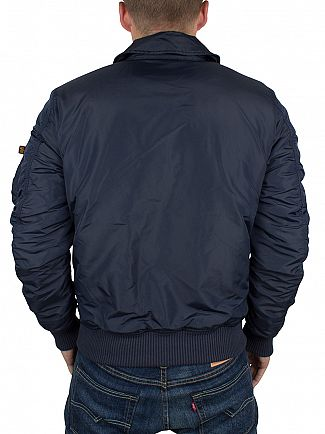 Alpha Industries Rep Blue CWU VF TT Bomber Jacket