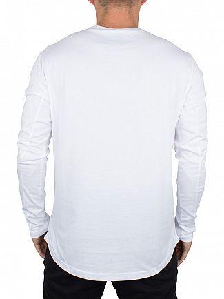 Foray White Longsleeved Legacy Metal Logo T-Shirt