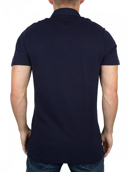 Hilfiger Denim Navy Blazer Button Down Logo Polo Shirt