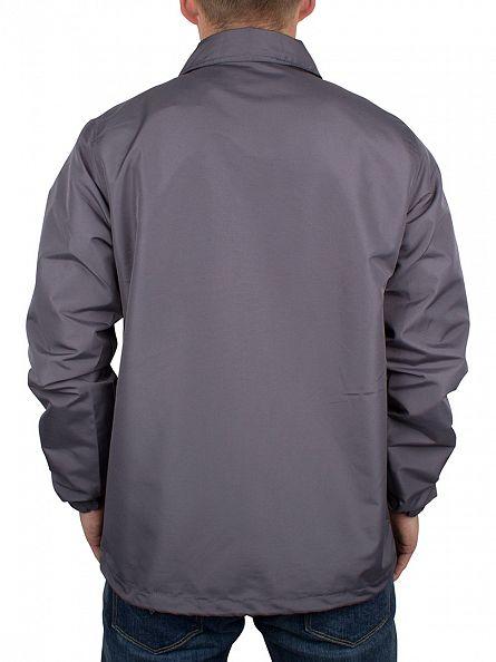 Hype Charcoal Script Logo Coach Button Jacket