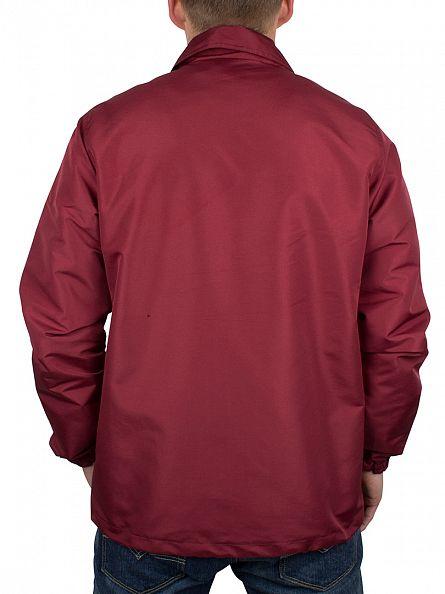 Hype Wine Script Logo Coach Button Jacket