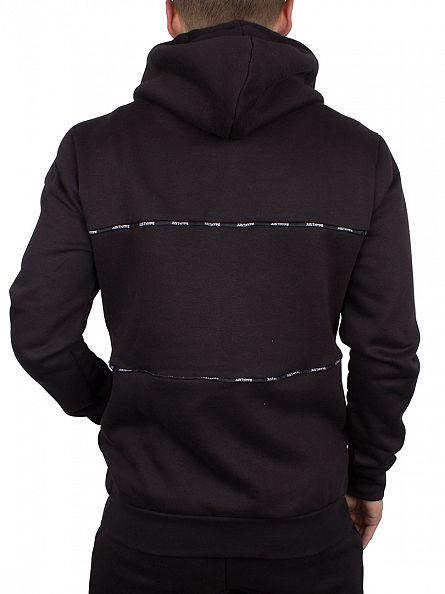 Hype Black Taping Panel Logo Zip Hoodie