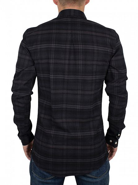 Minimum Dark Grey Melange Canarsie Checked Shirt