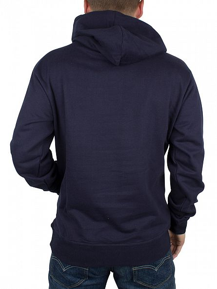 Nicce London Navy Big Print Graphic Hoodie