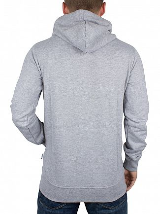 Nicce London Grey Original Zip Logo Hoodie