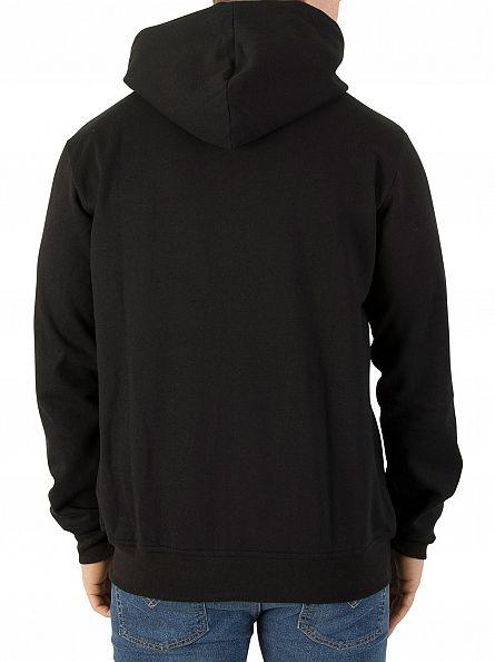 Nicce London Black Zip Logo Hoodie