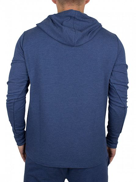 Polo Ralph Lauren Derby Blue Heather Marled Loungewear Logo Hoodie