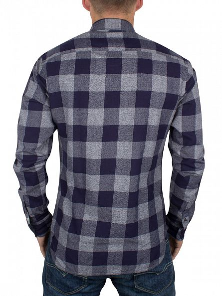 Scotch & Soda Blue Yarn Checked Shirt