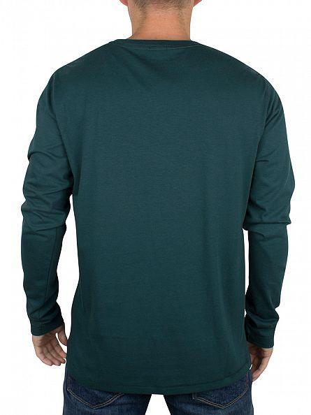 Tommy Hilfiger Ponderosa Pine Green Longsleeved Organic Logo T-Shirt