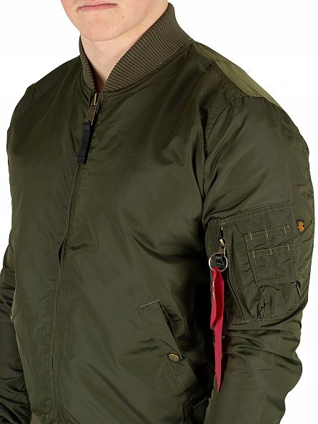 Alpha Industries Dark Green MA-1 TT Bomber Jacket