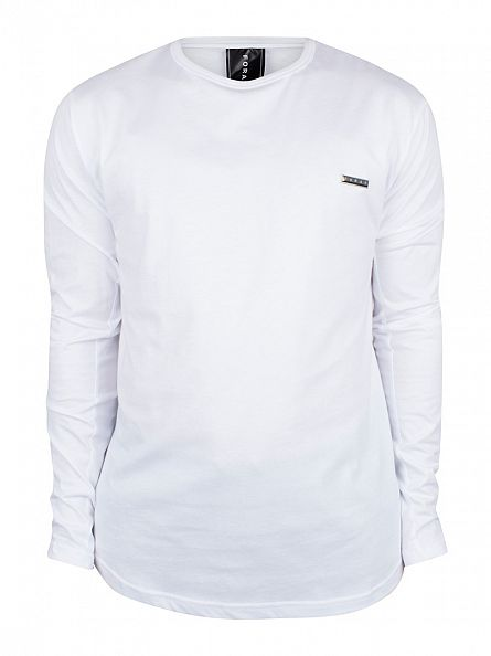 Foray White Longsleeved Legacy Metal Logo T-Shirt