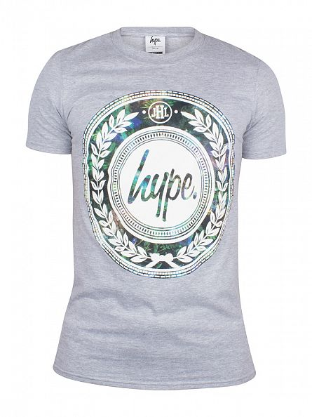 Hype Grey Night Garden Reef Logo T-Shirt