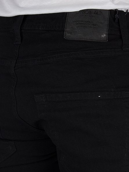Jack & Jones Black Denim Slim Fit Tim Original 298 Jeans