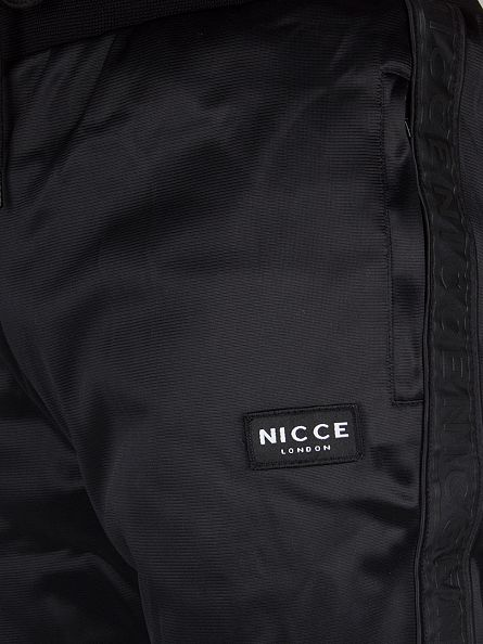 Nicce London Black Midnight Regent Logo Joggers