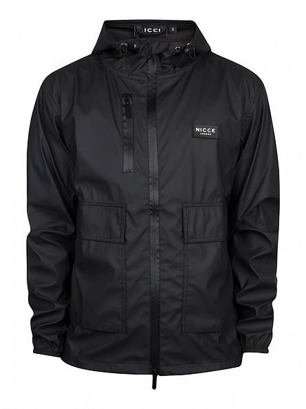 Nicce London Black Short Mac Jacket