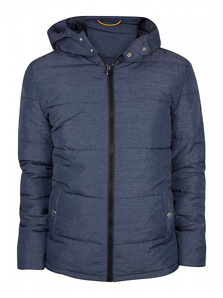 Original Penguin Medieval Blue Insulated Melange Puffer Jacket