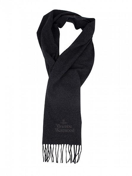 Vivienne Westwood Anthracite Wool Logo Scarf